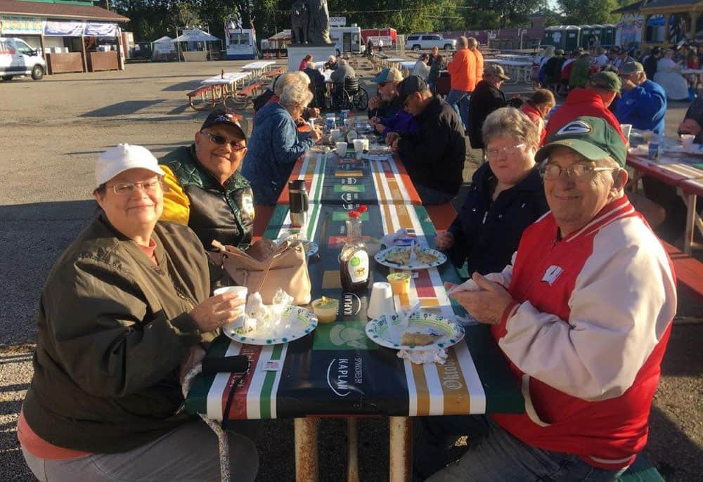 Residents at Oktoberfest Breakfast