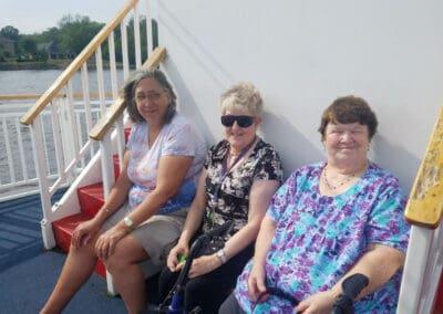 Residents enjoying a boat ride